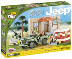 JEEP Willys MB kasárny check point COBI 24302 - Small Army