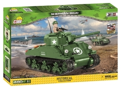 Tank SHERMAN M4A1 den D COBI 2464A - World War II