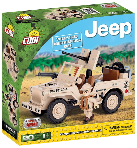 JEEP Willys MB severní Afrika COBI 24093 - Jeep Willys